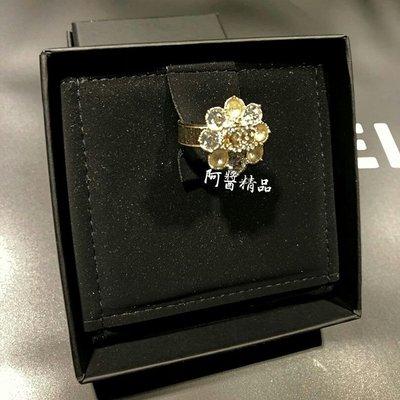 ~阿醬精品~巴黎直送.CHANEL 稀有的 花瓣造型 搭配 經典的 Logo 與 水鑽 戒指