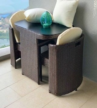 陽台桌椅 室外藤編椅子茶幾組新款合戶外茶桌藤椅三件套新zgAP-004