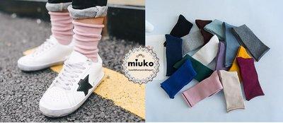 miuko BABY款韓國韓版嬰幼兒兒童男女寶寶男童女童 中大童 秋冬新款 滾邊 中長筒 襪子(任選3雙150元)現貨