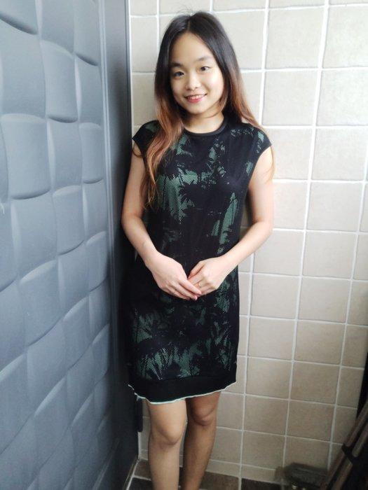 (嘻哈姐弟) ZARZ Collection 雙層材質  網狀復古設計連身裙  S號  9.9成新 没穿過 100%正品