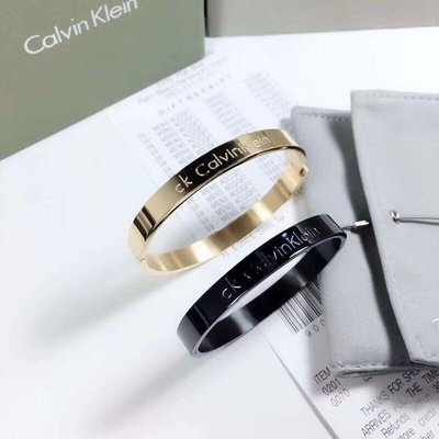 瘋飾品。 CK手環 鈦鋼黑色 手環 手鐲 手鍊 手繩 戒指 項鍊 耳環 飾品 男女 情侶 兩個價 490元
