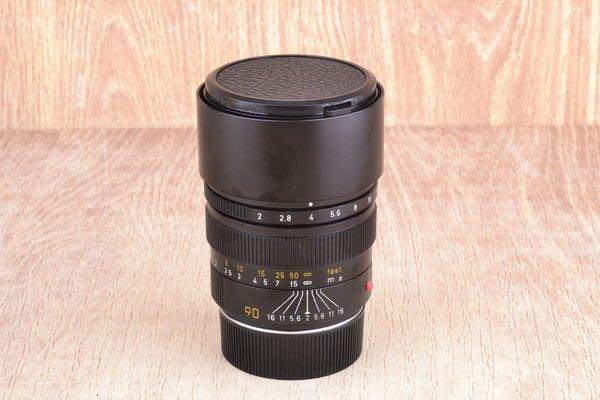 【品光攝影】Leica 徕卡 Summicron-M 90mm F2 III E55 黑色 加製 大頭九 #24439J