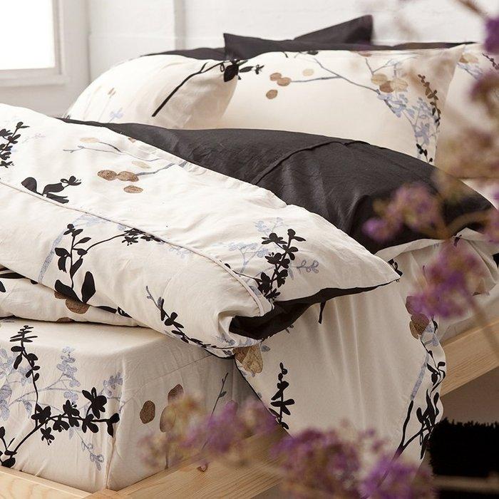 床包 / 雙人【京都物語】標準雙人床包含兩枕套,100%精梳棉,台灣製造,戀家小舖F01-AAS201