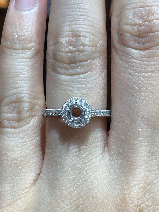 香港進口鉑金鑽石戒指,適合50分鑽石戒台,媲美I-primo價格少一半以上,可任選GIA等級鑽石,超值優惠價23800元