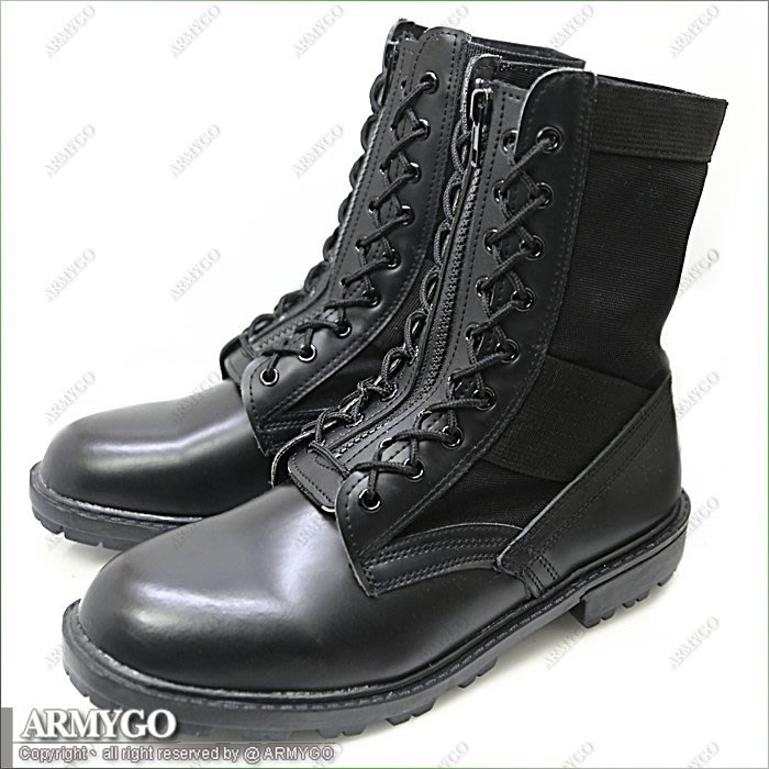 【ARMYGO】國軍黑身帆布長筒軍靴