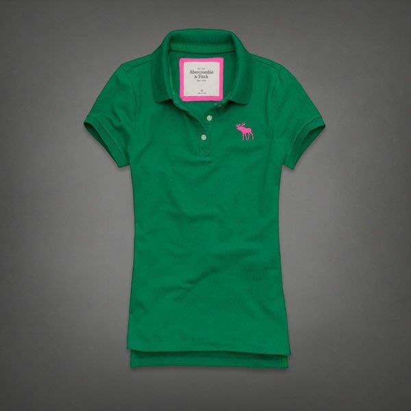 【天普小棧】AF A&F Abercrombie&Fitch Savannah Polo衫網眼麋鹿logo刺繡綠色S號