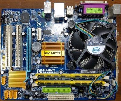 Intel E6300/ 1.86G雙核CPU+技嘉GA-G31M-ES2L主機板+金士頓4G終保記憶體〈附擋板與風扇〉