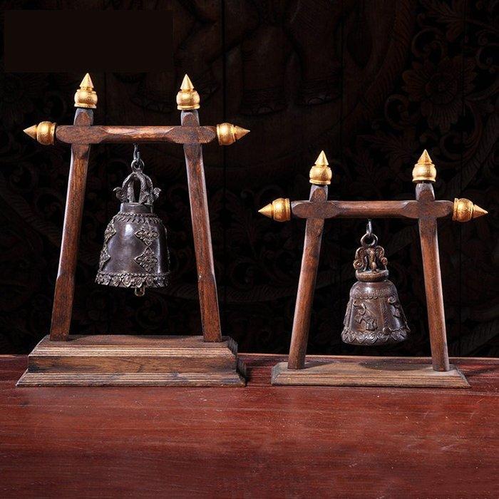 裝飾擺件 裝飾品 東南亞工藝品實木鈴鐺客廳書房擺設 泰式風格SPA酒店足浴裝飾擺件