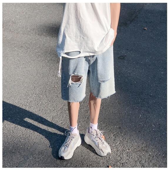 FINDSENSE X 男士休閑褲  運動褲 工作褲  短褲牛仔 百搭 牛仔褲