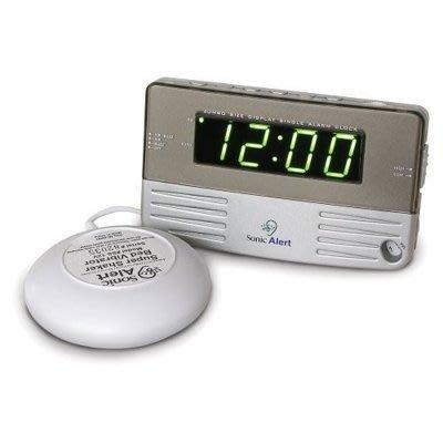 【Q比】美國 原裝 Sonic Alert SB200ss 音波炸彈 專治貪睡蟲「爆響+震動」靜音鬧鐘