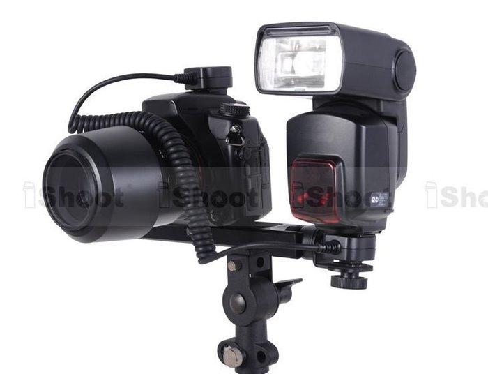 @佳鑫相機@(預購)iShoot 2代專業相機旋轉閃光燈支架 閃燈架 可調角度 可打低角度光(微距/人像/產品攝影)