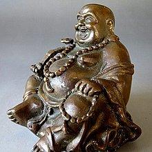 【 金王記拍寶網 】J3155  中國近代銅雕 財神彌勒佛   一尊 罕見 稀少