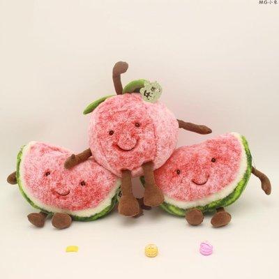 毛絨娃娃  創意表情水果毛絨玩具西瓜櫻桃掛件