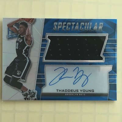 15-16 Spectacular 球衣簽名咭 Light Blue Thaddeus Young (PA01)