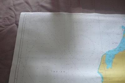 紫色小館90-DEPTHS IN METRES航海圖-MONTEBELLO ISLANDS TO GERALDTON