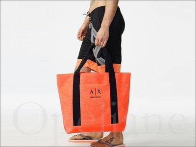 美國真品 A|X Armani Exchange AX 阿曼尼男女適用超大款 海灘包側肩背包 托特包 購物包 超大容量