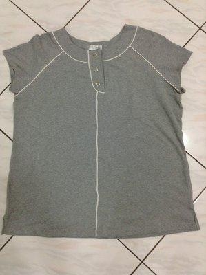 全新 SPORTSAVVY   大尺碼淺灰色95%棉質短袖   2X