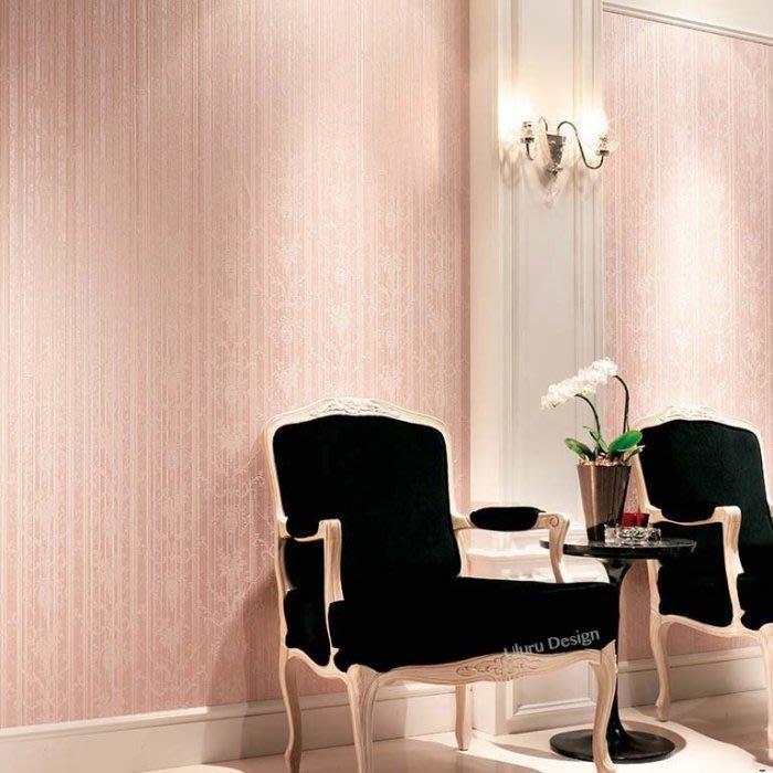 【日本期貨壁紙】浪漫公主風Pink-日本壁紙 Uluru Design Loft 北歐工業風 美式鄉村風 日本進口壁紙