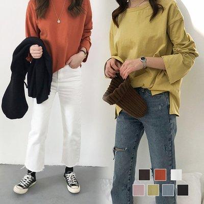 *夢尼* 柔軟棉質基本款百搭純色T恤 ...