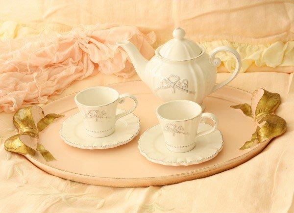 Ariel's Wish-義大利手工品牌SOLDI木頭製仿舊處理復古風蝴蝶結餐托餐盤婚禮奉茶托盤-義大利製-粉色最後一個