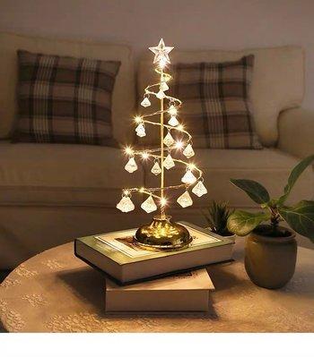 有感選物?桌上型水晶聖誕樹燈飾 小夜燈檯燈 聖誕節佈置