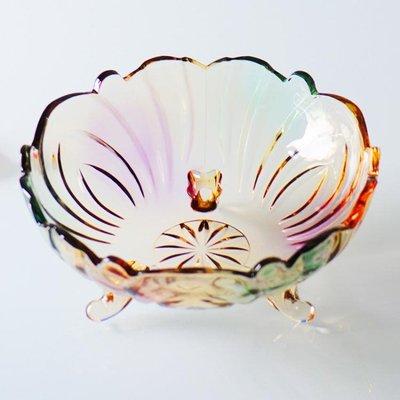 大號水晶玻璃果盤 歐式現代創意沙拉碗 客廳家用干果糖果水果盤子