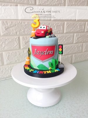 【Connie's Home Sweets】McQueen Birthday Cake 生日蛋糕專門店 手工蛋糕 可造不同主題蛋糕 3D cake