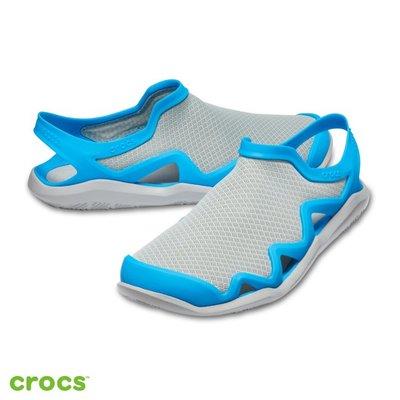 Look 鹿客 Crocs 卡駱馳 (男鞋) 激浪男士酷網涉水鞋 205701-07X