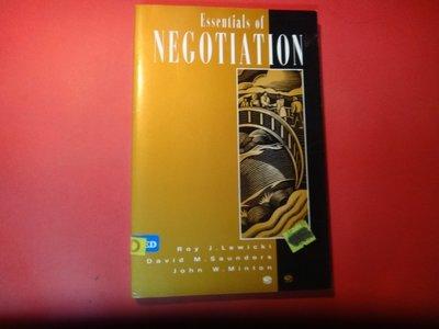 【愛悅二手書坊 07-14】Essentials of Negotiations
