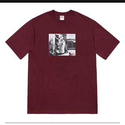 Mike Kelley/Supreme Hiding From Indians Tee 酒紅色 M號 現貨在台