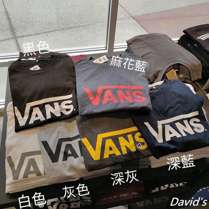 現貨附發票 Vans Tee 短袖 T恤 上衣 多色 男生衣著 現貨 全新 美國大衛