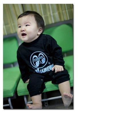 (I LOVE樂多)MOON Baby Eyeball & logo 長袖LOGO打印嬰兒服 連身 包屁衣