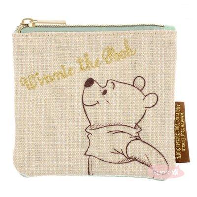 *♥:·.現貨·:*✡日本Disney迪士尼商店♥維尼 面紙零錢包 簡約素描風格