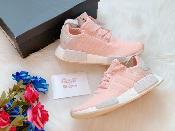 Sugar🍭Adidas Originals NMD R1 乾燥玫瑰 櫻花粉 粉紅 粉色 麂皮 許路兒 AQ1161