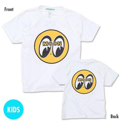 (I LOVE 樂多) Kids MOON Eyeball MOONEYES 經典LOGO雙面設計 嬰孩童短袖上衣 短T