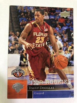 Toney Douglas RC #201 2009-10 Upper Deck Basketball 新人卡