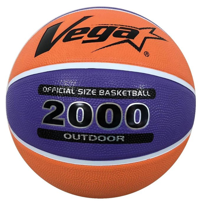 體育課 VEGA 7號籃球 OBR-750P/O 紫/橘色 橡膠材質 平價籃球 國、高中社會組大小#7