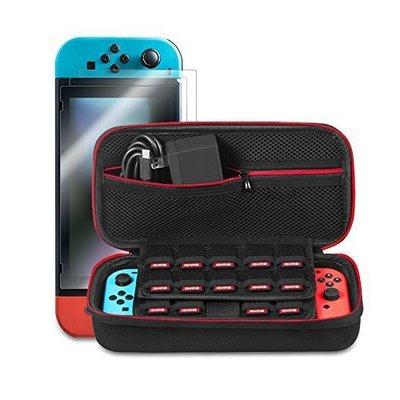 尼德斯Nydus 日本 NS 收納包 硬殼包 旅行包 主機+Joy-Con 收納 Switch 可收納19片遊戲