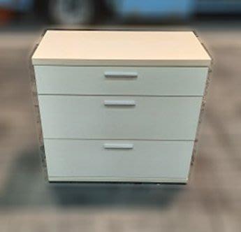 樂居二手家具 便宜2手傢俱拍賣 B0323BJJC 白色三斗櫃 衣櫥 櫥櫃 收納櫃 層櫃二手家具家電買賣 台北新竹