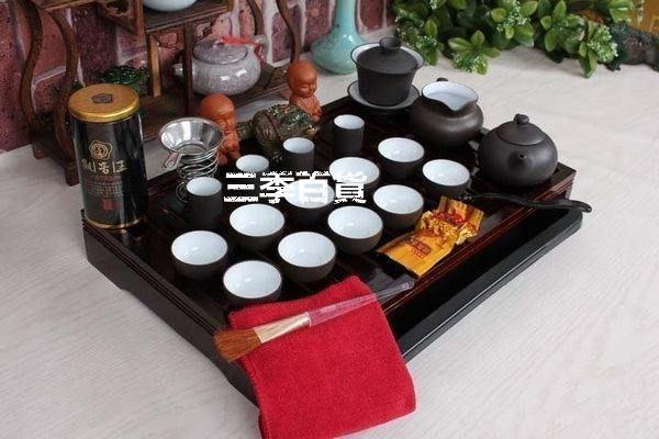 三季茶具套裝 茶具 紫砂功夫茶具套裝 實木茶盤 茶道 茶海 托盤❖610