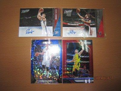 網拍讀賣~Domantas Sabonis/ Jake Layman~RC新人簽名卡~貼紙簽~PRIZM紅亮平行銀亮卡~