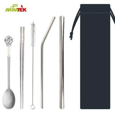 316不鏽鋼吸管餐具組 醫療級不銹鋼 抗酸鹼 耐腐蝕