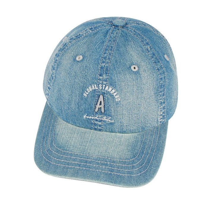 ☆二鹿帽飾☆ (A)韓版立體水洗球帽/流行棒球帽/休閒帽最新帽款/帽簷 7cm-藍