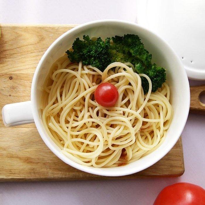 碗陶瓷碗帶手柄帶蓋家用個性碗甜品碗骨瓷碗有蓋的泡面碗湯碗Y-優思思