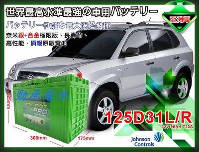 ☆勁承汽車電池☆125D31R AMARON 愛馬龍汽車電瓶 得利卡 LUXGEN7 SUV U6 U7 M7