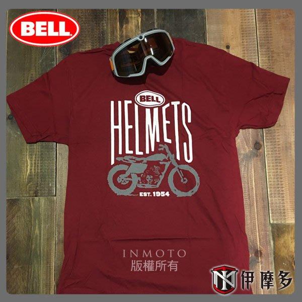 伊摩多※美國 BELL SCRAMBLER 紅 100% 綿 短T恤 現貨~另有其他款!! 安全帽 重機
