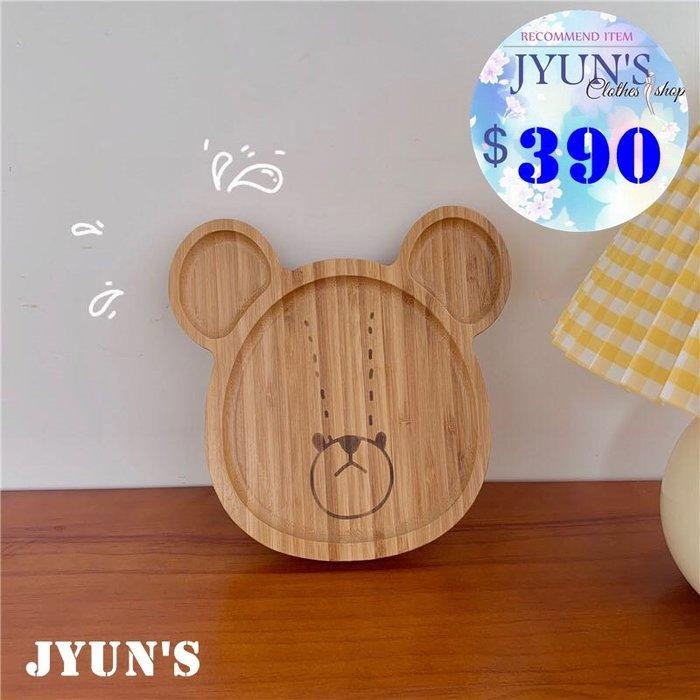 JYUN'S 新品日本可愛小熊學校讀書熊天然環保木頭製餐盤水果盤托盤子 1款 現貨