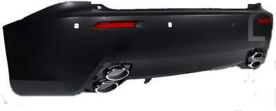 ☆小傑車燈家族☆全新LEXUS凌志IS250 IS-F ISF F-SPORT後保桿全配備含4出排氣管