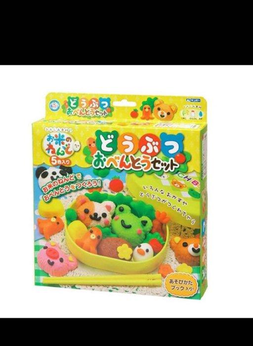 GINCHO銀島-米黏土-動物便當套裝組