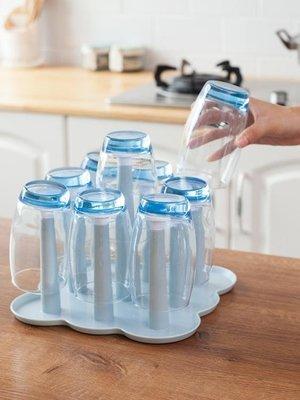 廚房置物架瀝水杯架玻璃杯收納架子創意家居用品塑料杯托瀝水盤 Biglove
